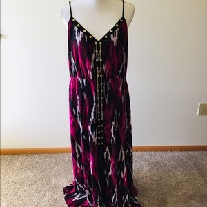 Michael Kors Maxi dress with gold chain
